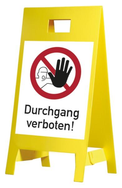 Warnaufsteller, Durchgang verboten, Kunststoff, 650 x 350 mm- 350x650 mm Kunststoff