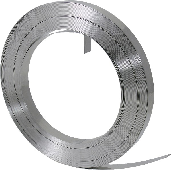 "Stahlband V2A 19 x 0,7 mm (19 mm br. 3/4""), 19 mm x 1 m, Meterware"