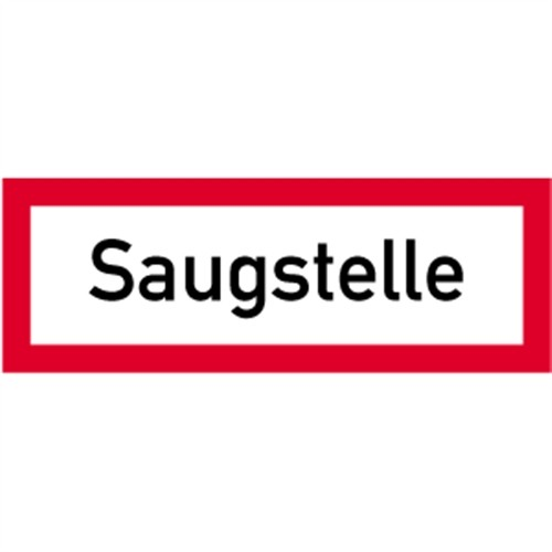Schild Saugstelle, Alu, 297x105 mm